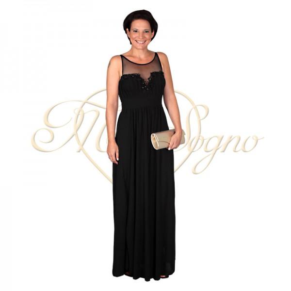 Lange gala jurk zwart