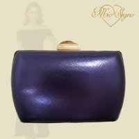 Clutch donkerblauw metallic