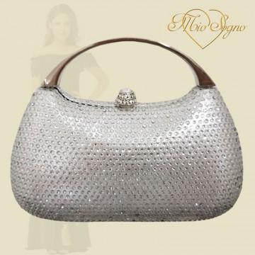 Clutch zilver glitter
