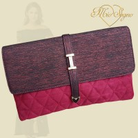Clutch bordo gewatteerd